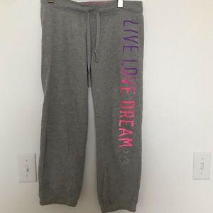 Aeropostale cropped Iight grey sweatpants - S